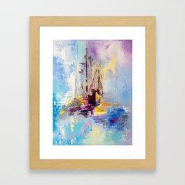 Illusive boats Framed Art Print