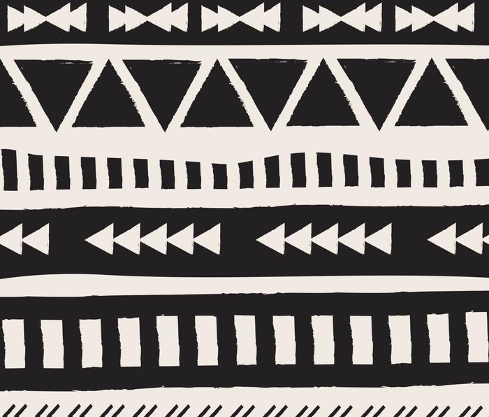 Boho style pattern Metal Travel Mug