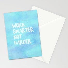 Work Smarter Not Harder Stationery Cards