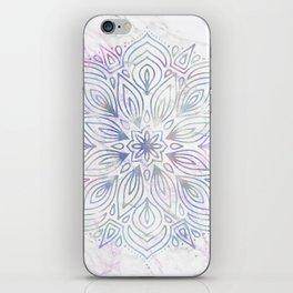 Marble Mandala - Purple Blue Rose Gold iPhone Skin