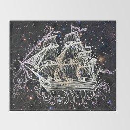 The Great Sky Ship II Throw Blanket