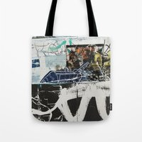 plane Tote Bags featuring Plane by Atlen
