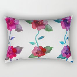 Vibrant Roses Rectangular Pillow