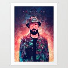 Ed Scissortongue / Floral Art Print