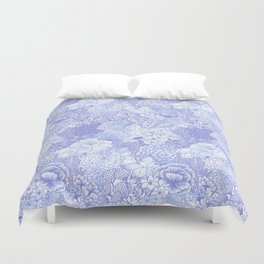 Icy Bloom Duvet Cover