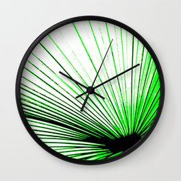 Vibrant, Bold Green Wall Clock