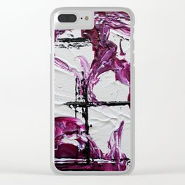 Mini Series [Musical Waves - Rouge Violet] Clear iPhone Case