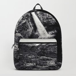 Hidden Waterfall Black and White Backpack