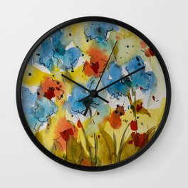 Flowers (watercolor) Wall Clock