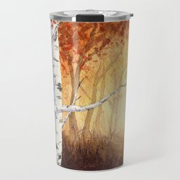 Autumn Birches Travel Mug