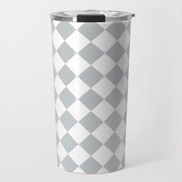 Light Grey Diamond Pattern Travel Mug