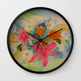 First Valentine Together Wall Clock