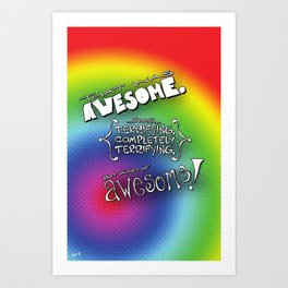 That Was Awesome Art Print