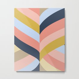 SUNSET MINIMAL STRIPES Metal Print