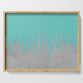 Concrete Fringe Turquoise Serving Tray