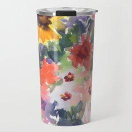 Sunny Summer Sunflowers Travel Mug