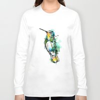 emerald Long Sleeve T-shirts featuring Emerald Hummer by Abby Diamond