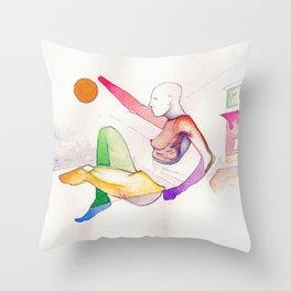 SoHo Land, NYC scene, NYC artist Throw Pillow