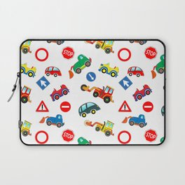 Kid cars, car and machine, tractor Laptop Sleeve