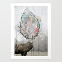 elk Art Prints featuring elk by Emily C Gill