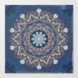 Blue's Golden Mandala Canvas Print