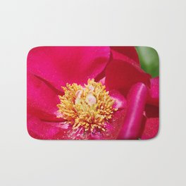 Peony Scarlet O'Hara - Red Satin with Gold Dust Bath Mat