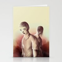 zombies Stationery Cards featuring Zombies by Jacques Marcotte