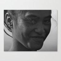 maori Canvas Prints featuring Maori Smile by Luke Durant