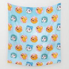 Umie & Mochi VIII - Pattern 2 - Blue Wall Tapestry