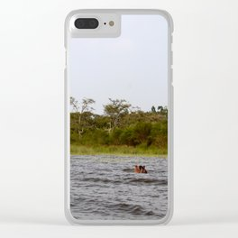 Murky Waters Clear iPhone Case