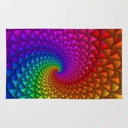 Rainbow Fractal Spikes Rug