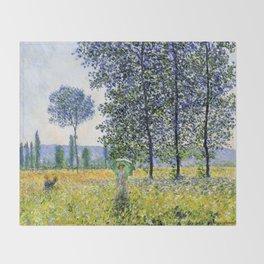 "Claude Monet ""Sunlight Effect under the Poplars"", 1887 Throw Blanket"