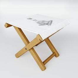 Bottled Ink and Fountain Pen Folding Stool