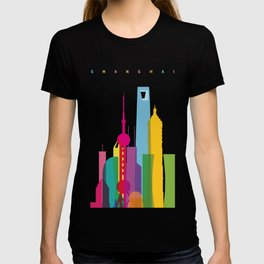 Shapes of Shanghai. Accurate to scale T-shirt