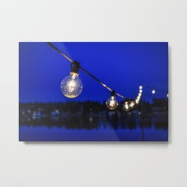 String of Lights Metal Print