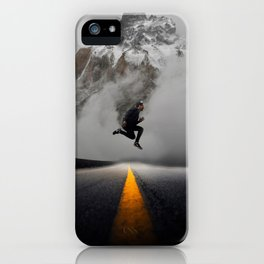 Magnetic Levitation - Power Mountain by GEN Z iPhone Case