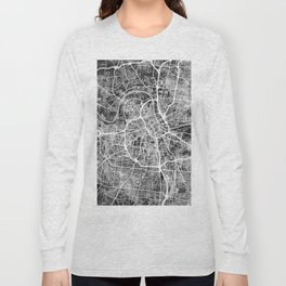 Nashville Tennessee City Map Long Sleeve T-shirt