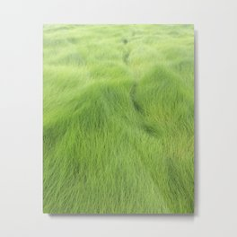 Green Waves Metal Print