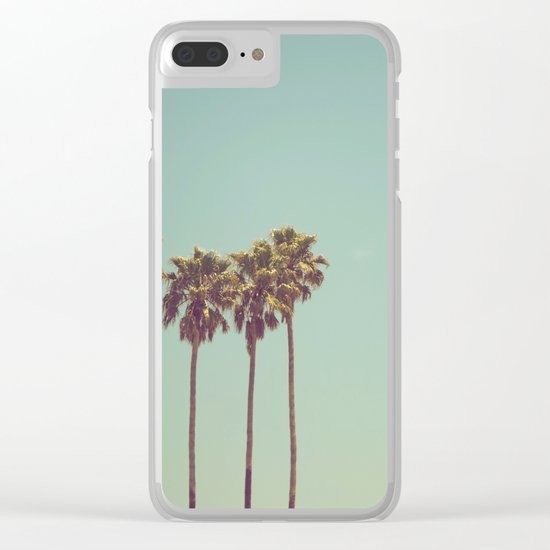 Vintage Palm Trees Clear iPhone Case