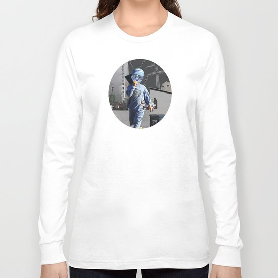 CatKid in illusion City Collage Long Sleeve T-shirt