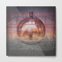 Silver Sphere Metal Print