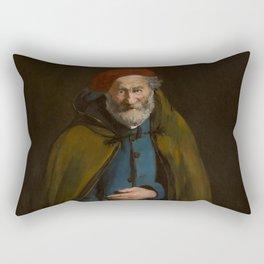 """Édouard Manet """"Beggar with a Duffle Coat (Philosopher)"""" Rectangular Pillow"""
