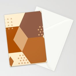 Mid Century Modern Terracotta and Geometric Stationery Cards
