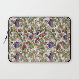 Floral with Watering Can Laptop Sleeve