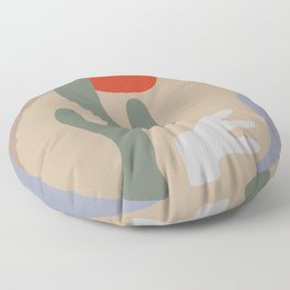 Desert Oasis Modern  Floor Pillow