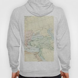 Old Map of The Roman Empire Hoody