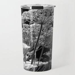 Black & White Study of Giant Hogweed Flowerheads Travel Mug