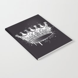 Crown in graffiti style Notebook