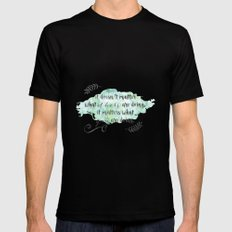It doesn't matter what others are doing Black Mens Fitted Tee MEDIUM