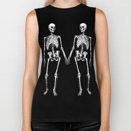 Two skeletons Biker Tank